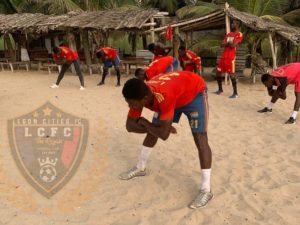 Legon Cities FC intensify training ahead of Dreams FC meeting as they engage in workout at the beach