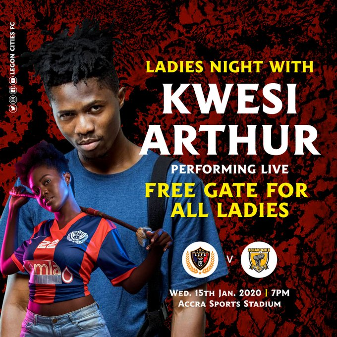 CONFIRMED: Rapper Kwesi Arthur to perform at Legon Cities FC encounter with Ashgold
