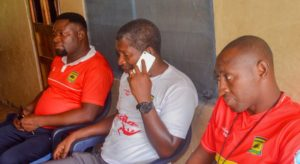 Maxwell Konadu visits Kotoko supporter who got shot by Police after Berekum Chelsea match