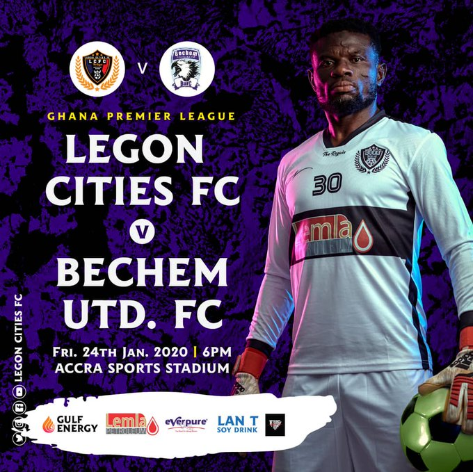 Legon Cities coach names strong starting XI for Bechem United clash as Fatau Dauda returns from injury