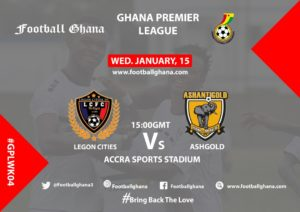 Ghana Premier League matchday 4 preview: Legon Cities FC v Ashanti Gold
