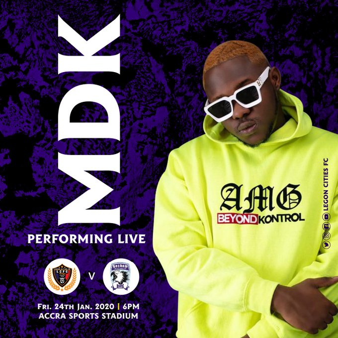 VIDEO: Medikal calls on fan base to meet him at the Accra Sports Stadium tomorrow to support Legon Cities FC