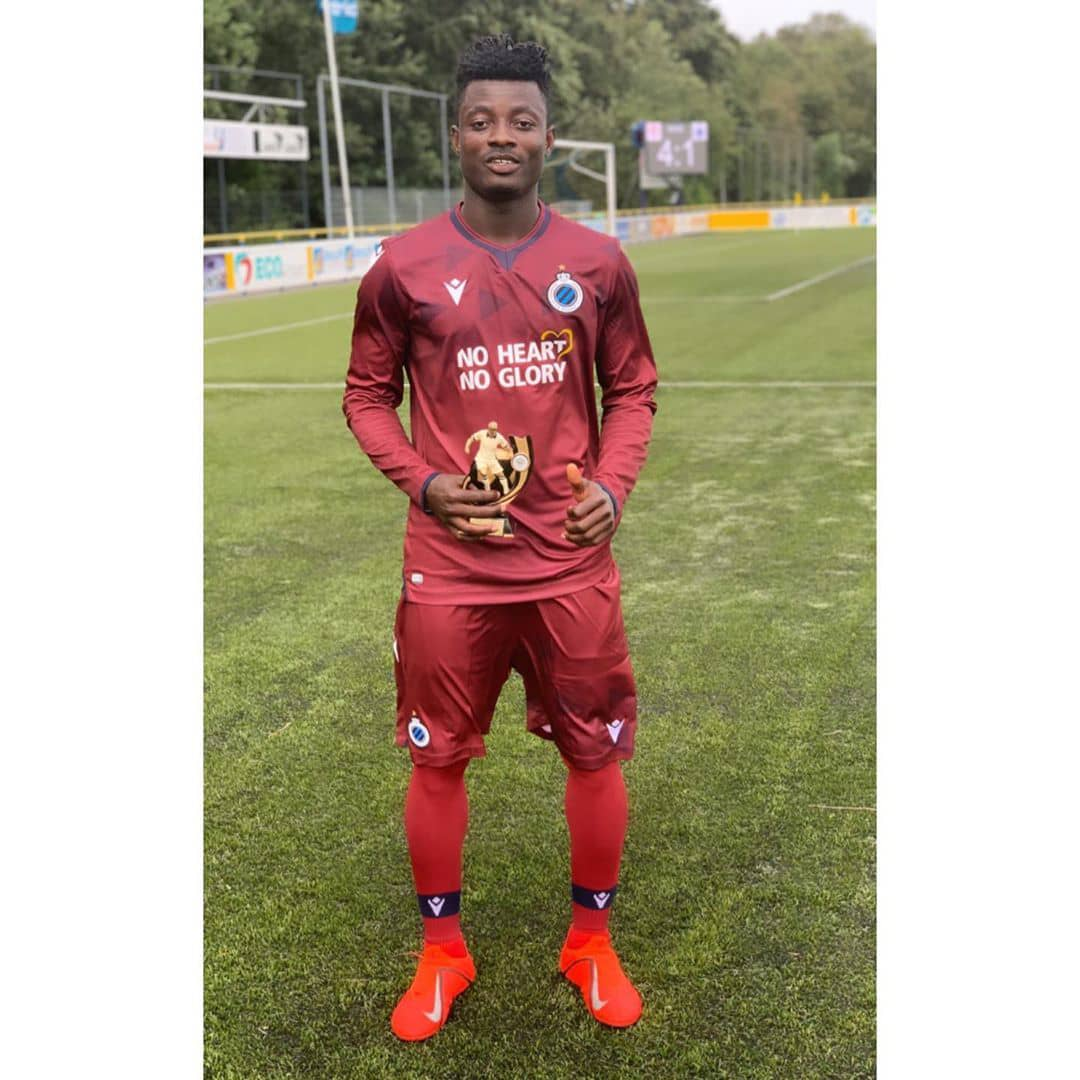 Ghanaian prodigy Eric Appiah shines for Club Bruges at Sparkasse & VGH CUP in Germany