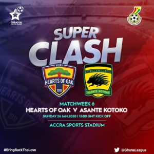 Tickets prices for Hearts of Oak's super clash against Asante Kotoko announced