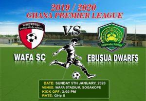 Live Updates: WAFA 1-0 Ebusua Dwarfs – Ghana Premier League