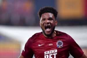 VIDEO: Ghanaian striker Benjamin Tetteh scores hat-trick in massive Sparta Prague win