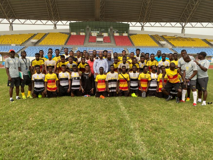 Black Starlets Management Committee visit team's camp in Cape Coast ahead of upcoming qualifiers
