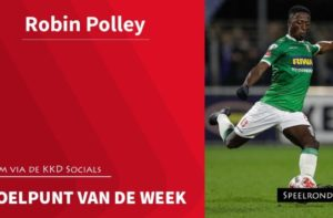 Robin Polley's goal against De Graapschap named Goal of the Week in Holland