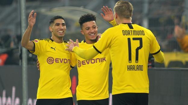 Borussia Dortmund 4-0 Eintracht Frankfurt: Jadon Sancho and Erling Braut Haaland score