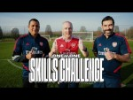 Theo Baker v Robert Pires v Gilberto Silva | 1 on 1 skills challenge at Arsenal training centre