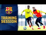 Expert ball control on view in today's training session
