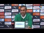Rueda de prensa de  Jon Pérez Bolo tras el Girona FC vs SD Ponferradina (2-0)