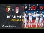 Resumen de CA Osasuna vs Granada CF (0-3)