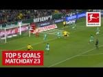 Top 5 Goals on Matchday 23 - Haaland, Werner, Steffen & More