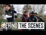 Behind the scenes | Arsenal train for Olympiacos... plus an OUTRAGEOUS nutmeg!