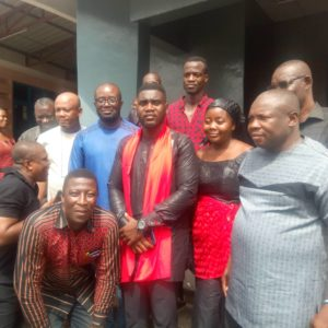 Kurt Okraku, top GFA officials mourn with family of late Henry Aryee
