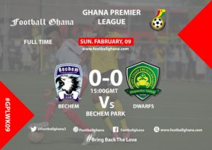 Ghana Premier League matchday 9 report: Bechem United held to 0-0 draw by Ebusua Dwarfs
