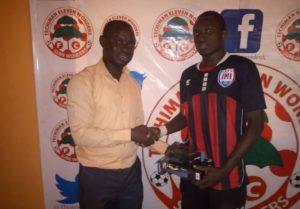 Victorien Adebayor wins MoTM award after inspiring Inter Allies to beat Eleven Wonders