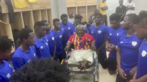 Ataa Abbey: Physically-challenged Hearts fan interact with players after Bechem Utd win