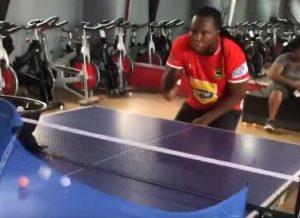 VIDEO: Ayigbe Edem spotted enjoying 'Table Tennis' in Kotoko replica jersey