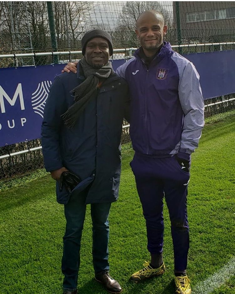 CK Akonnor: Black Stars Coach visits Anderlecht; takes time to observe team's training