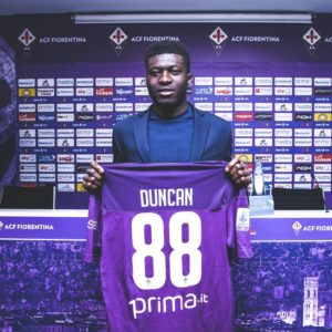 Alfred Duncan reveals why he chose jersey number 88 at Fiorentina