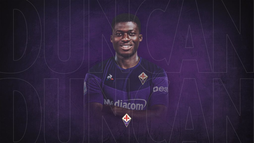Alfred Duncan's jersey number at Fiorentina revealed
