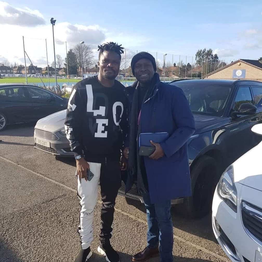 Black Stars coach C.K Akunnor visits Daniel Amartey as he recovers from long injury
