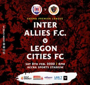 Ghana Premier League Matchday 9 Preview: Inter Allies v Legon Cities