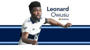 Leonard Owusu finally report to Vancouver Whitecaps camp