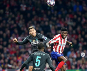 Thomas Partey shows fine form as Atletico Madrid beat Liverpol 1-0 in UCL round of 16