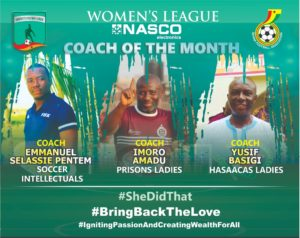 WPL: Coach Yusif Basigi amongst 3 coaches shortlisted for Nasco coach of the month