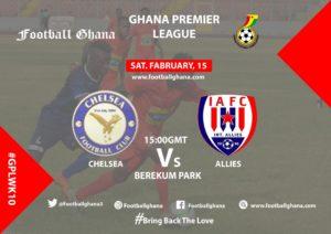 Ghana Premier League Matchday 10 Preview: Berekum Chelsea v Inter Allies