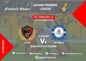 Ghana Premier League Matchday 10 Preview: Legon Cities v Great Olympics