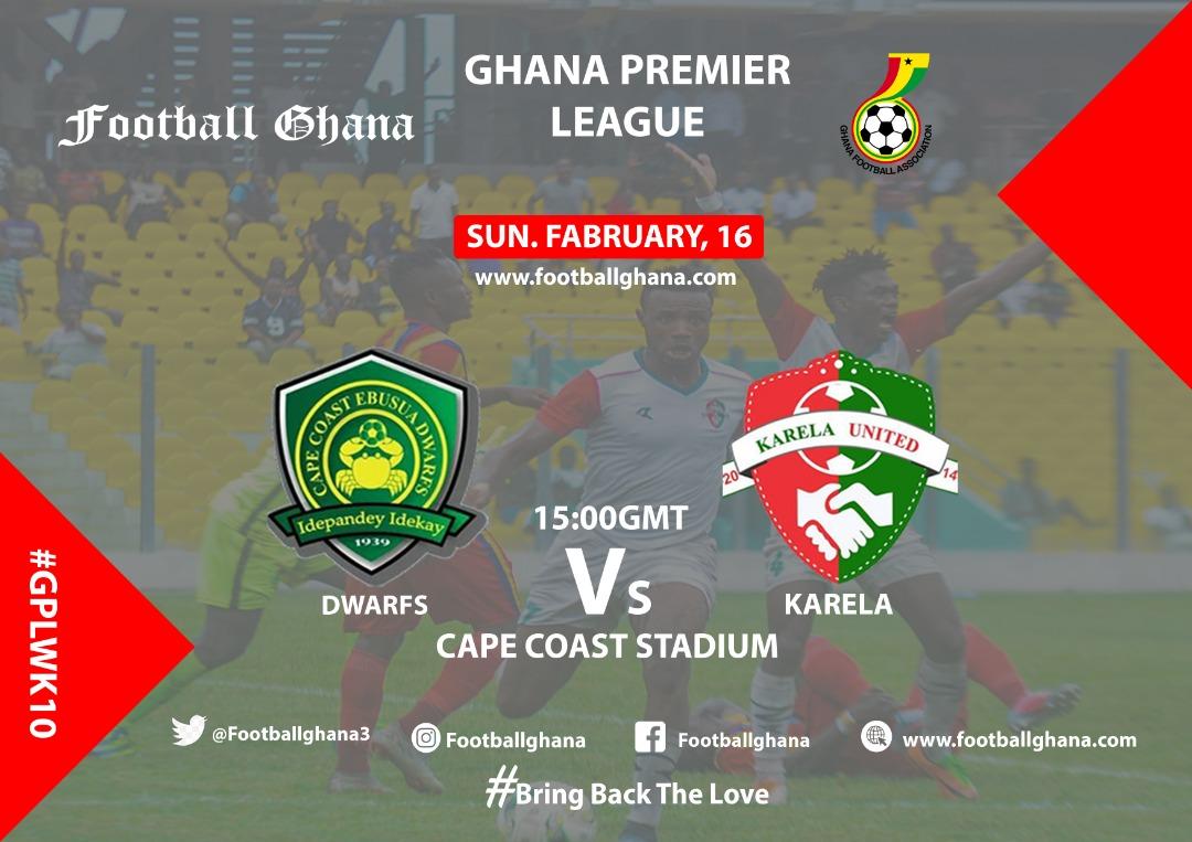 Ghana Premier League Matchday 10 Preview: Ebusua Dwarfs v Karela United