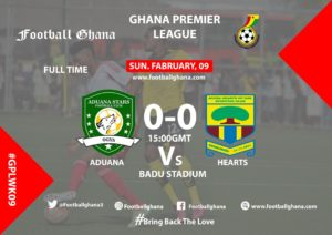 Ghana Premier League matchday 9 report: Aduana and Hearts play a goalless draw