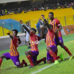 Hearts of Oak players train in groups while at home