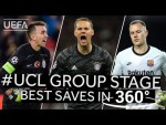 MUSLERA, NEUER, TER STEGEN: #UCL Group Stage BEST SAVES in 360°