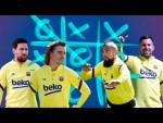 TIC TAC TOE with the WHOLE Barça squad (featuring Messi, Piqué, Griezmann...)