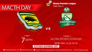 Asante Kotoko vs Elmina Sharks - Confirmed starting lineups