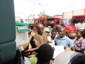 CK Akonnor donate sanitizers to hawkers in Accra for protection against Coronavirus