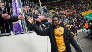 Godsway Donyoh: Dynamo Dresden attacker laments over the idea of playing matches without spectators