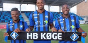 HB Koge officially announce signing of Inter Allies trio