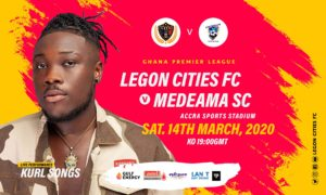 Legon Cities FC v Medeama SC: Kurl Songs to thrill spectators on Saturday night