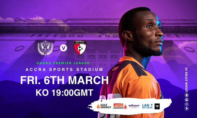 2019/2020 Ghana Premier League Matchday 13: Legon Cities v WAFA Preview