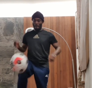 Midfielder Michael Essien joins #StayAtHomeChallenge [VIDEO]