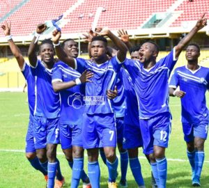 VIDEO: Maxwell Quaye's brace power Olympics to beat Liberty 2-1