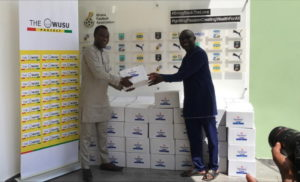 Ghana FA receives hand sanitizers from Samuel Owusu in fight against Covid-19