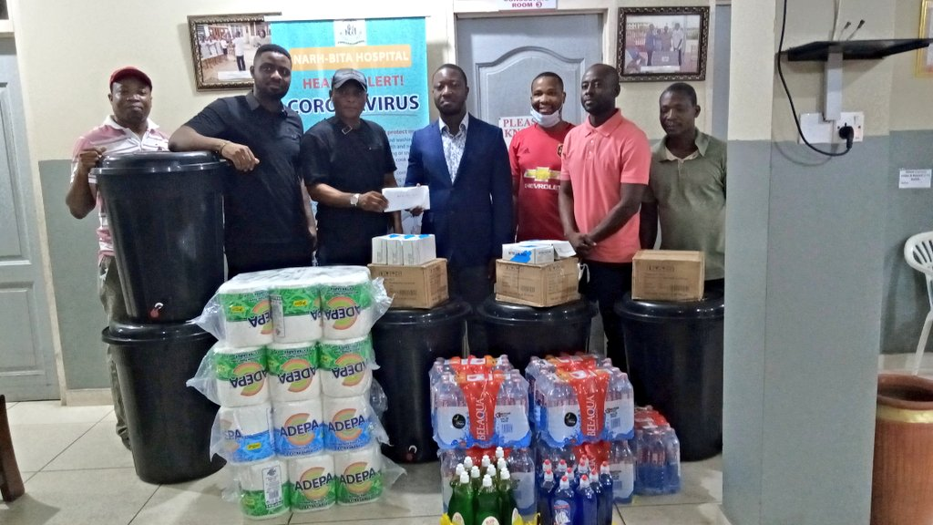 Ghana winger Nana Ampomah donates to Narh-Bita Hospital in fight against Coronavirus