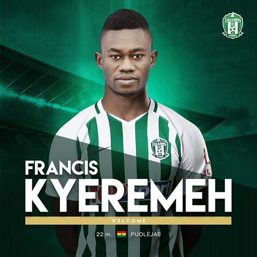 Ghanaian youngster Francis Kyeremeh ready for new challenge at Vilnius Zalgiris